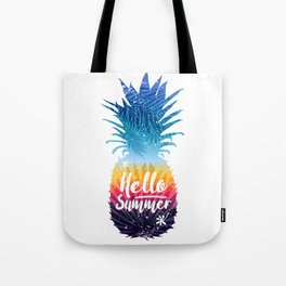 pineapple hello summer Tote Bag