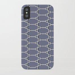 Silver Trellis iPhone Case