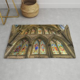 Rochester Cathedral Stained Glass Windows Rug