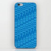 video game iPhone & iPod Skins featuring Video Game Controllers - Blue by C.Rhodes Design