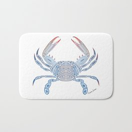 Tribal Blue Crab Bath Mat