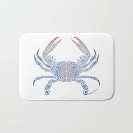 Tribal Blue Crab Bath Mat