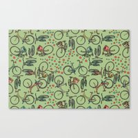 bikes Canvas Prints featuring Bikes by Catru