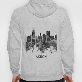 Akron Ohio Skyline BW Hoody