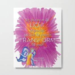 Aurora Focus on the Light Metal Print