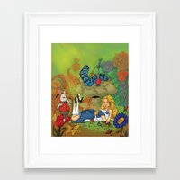 alice wonderland Framed Art Prints featuring Wonderland by joanniegelinas
