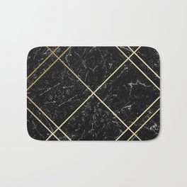 Gold & Black Marble 02 Bath Mat
