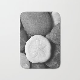 Sand Dollar on Rocks Bath Mat