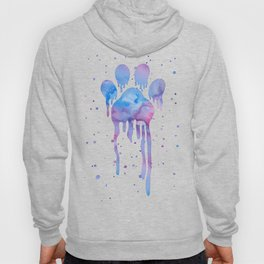 Watercolor Paw Print Hoody