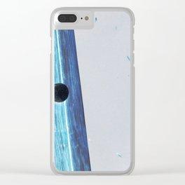 Blue Glow #2 Clear iPhone Case