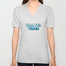 Travel vibes blue Unisex V-Neck