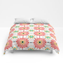 morrocan pink mandala pattern no4 Comforters