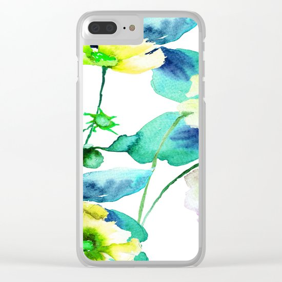 Flowers 08 Clear iPhone Case