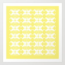 Oh, deer! in buttercup yellow Art Print