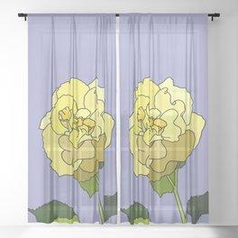 Guyanese Rose Sheer Curtain