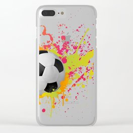 Football design with colorful splashes Clear iPhone Case