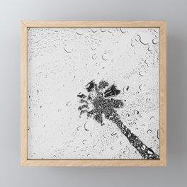 Modern Black and White Palm Tree 2 of 2 Framed Mini Art Print