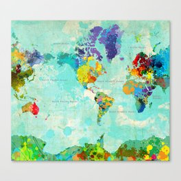 World Map - 8 Canvas Print