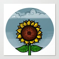 kitschy sunflower Canvas Print