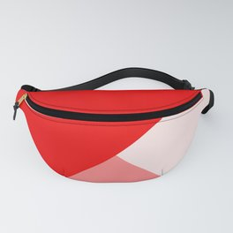 Trinity Color Block Red EE0000 Fanny Pack