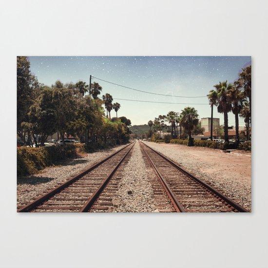 Rail Gazing Santa Barbara Canvas Print
