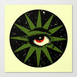 Red and Green All Seeing Cosmic Eye Canvas Print