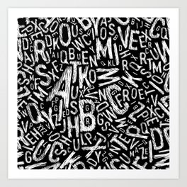Letter Sketch Art Print
