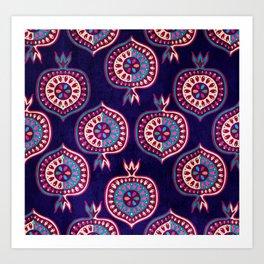 Decorative pomegranate pattern Art Print