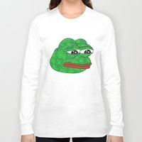 rare Long Sleeve T-shirts featuring Rare Pepe by Mischievie