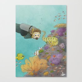 Coral Reef Scuba Diving Adventure Canvas Print