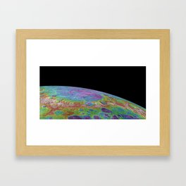 Planet Mercury Lowlands in Mercury's North Topographic Height of the Surface Print Framed Art Print
