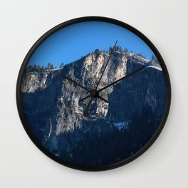 Mountain with snow Wall Clock
