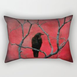 The Color Red Rectangular Pillow