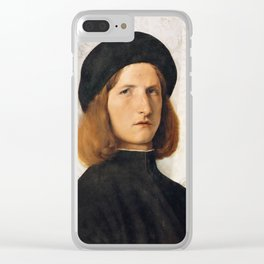 Lorenzo Lotto - Portrait of a Young Man with a Lamp Clear iPhone Case