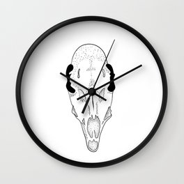 Dark skull of roe deer Wall Clock