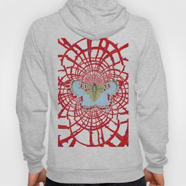 ARTISTIC RED-WHITE BUTTERFLY DREAM CATCHER WEB Hoody