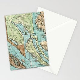 Antique Map of California Stationery Cards
