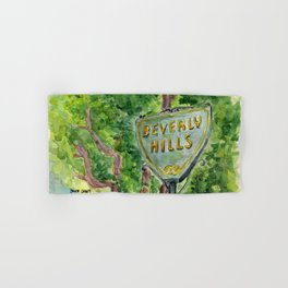 Beverly Hills Street Sign Hand & Bath Towel