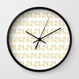 Cute foxes Wall Clock