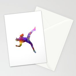 Baseball player throwing a ball Stationery Cards