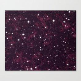 Burgundy Space Canvas Print