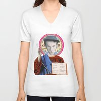 tom waits V-neck T-shirts featuring Tom Waits by Hilal Can