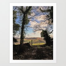 sometimes, the grass is greener on the other side... Art Print