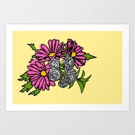 Daisies Yellow Art Print