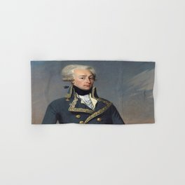 Portrait of Lafayette by Joseph désiré Court Hand & Bath Towel