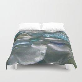 Ocean Hue Sea Glass Assortment Duvet Cover