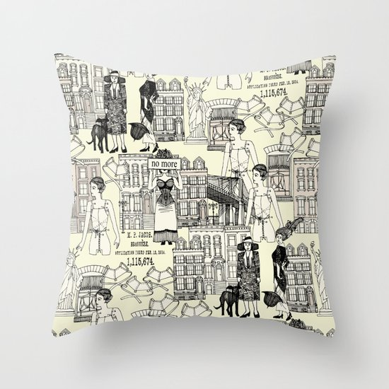 handkerchiefs and ribbons Throw Pillow
