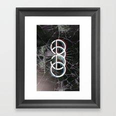 echo type Framed Art Print