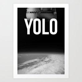 Felix Baumgartner YOLO Art Print