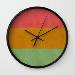 """Spring pastel horizontal lines"" Wall Clock"